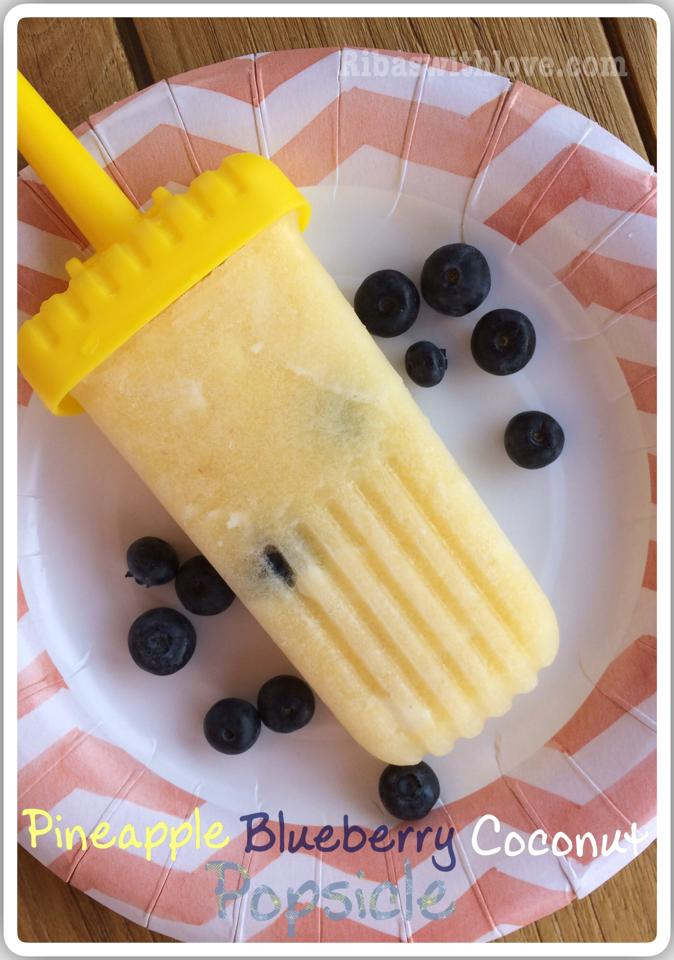 pineapple blueberry coconut popsicle