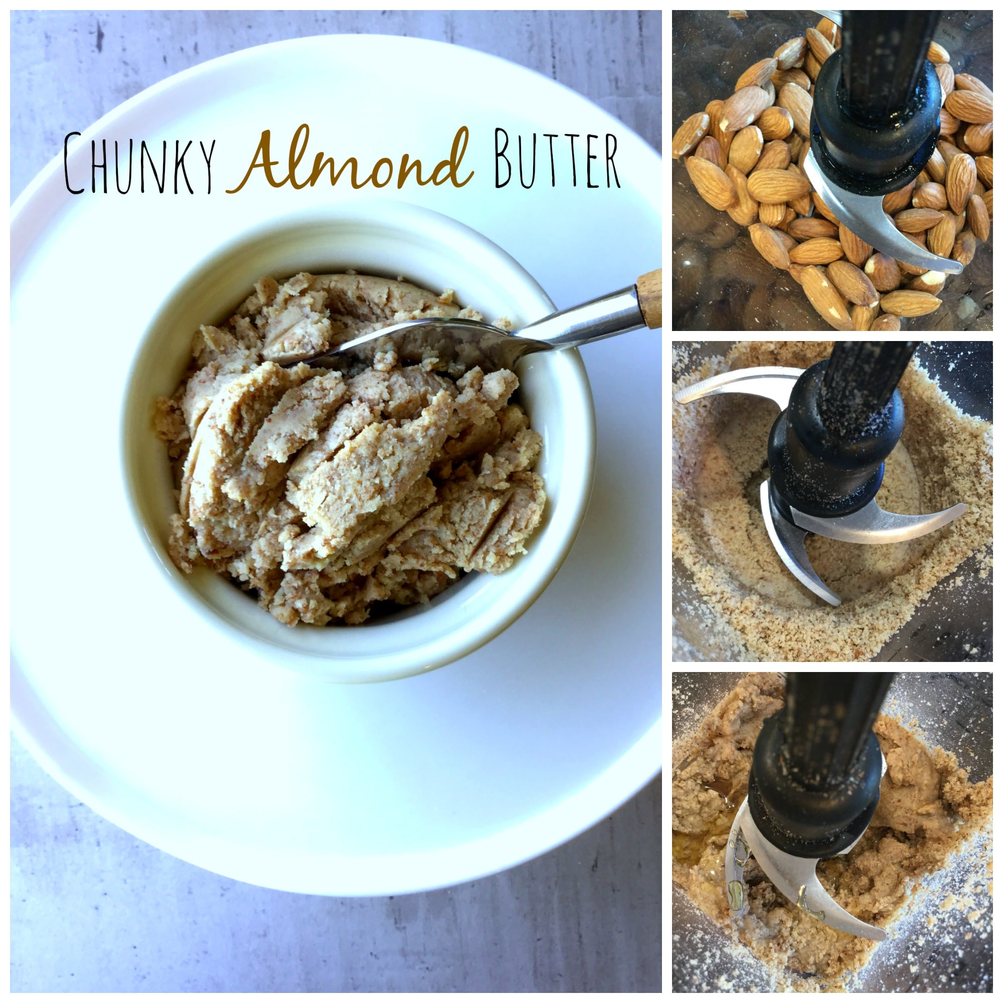 This homemade Almond Butter is a great way to add extra protein to your diet.
