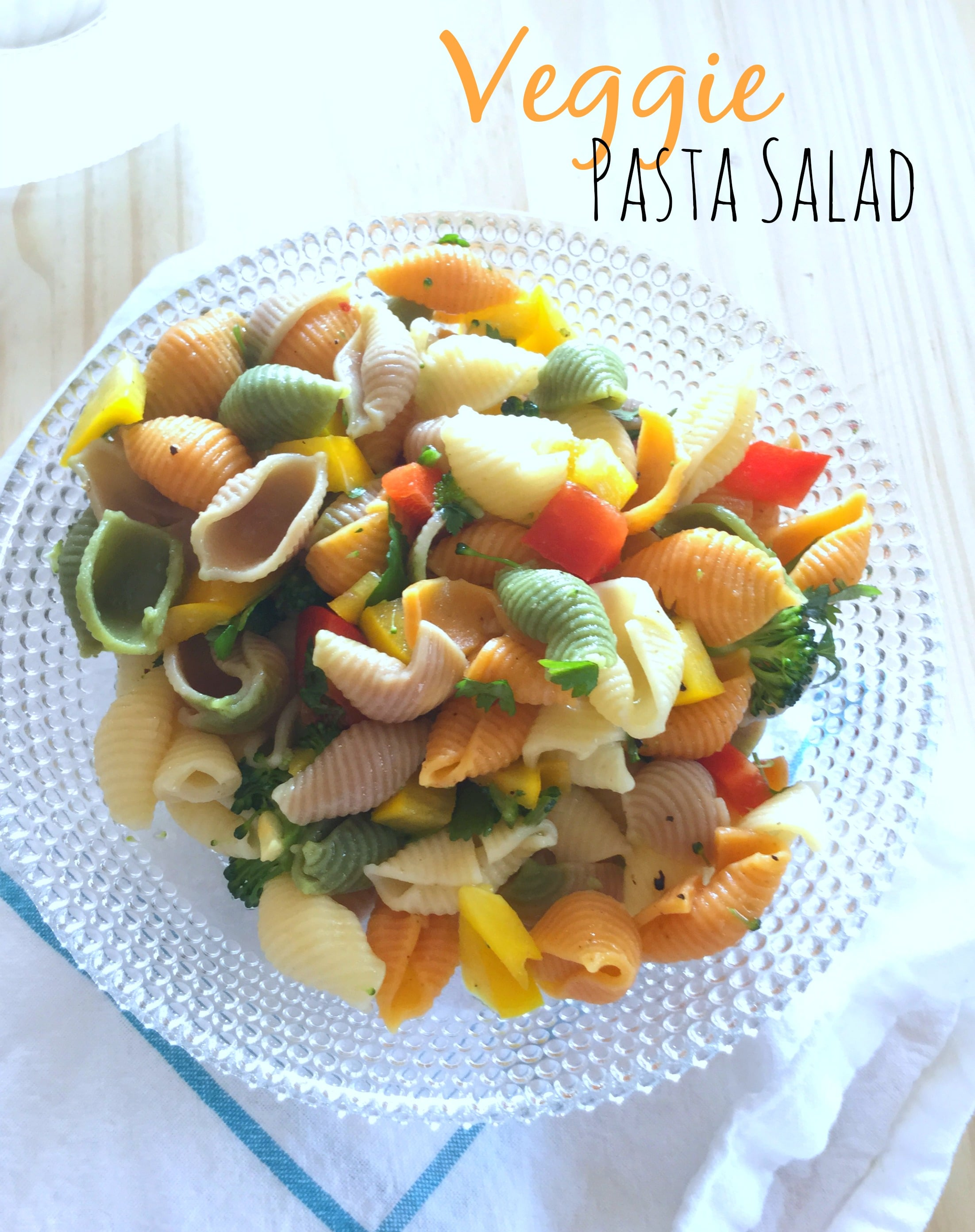 This Veggie Pasta Salad is filled with the best aromatic flavors of early spring.