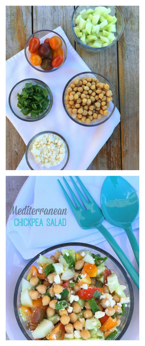 This mediterranean chickpea salad is a fantastic option if you want to try something new, delicious and that can provide you with great nutrition in a light yet satisfying meal.