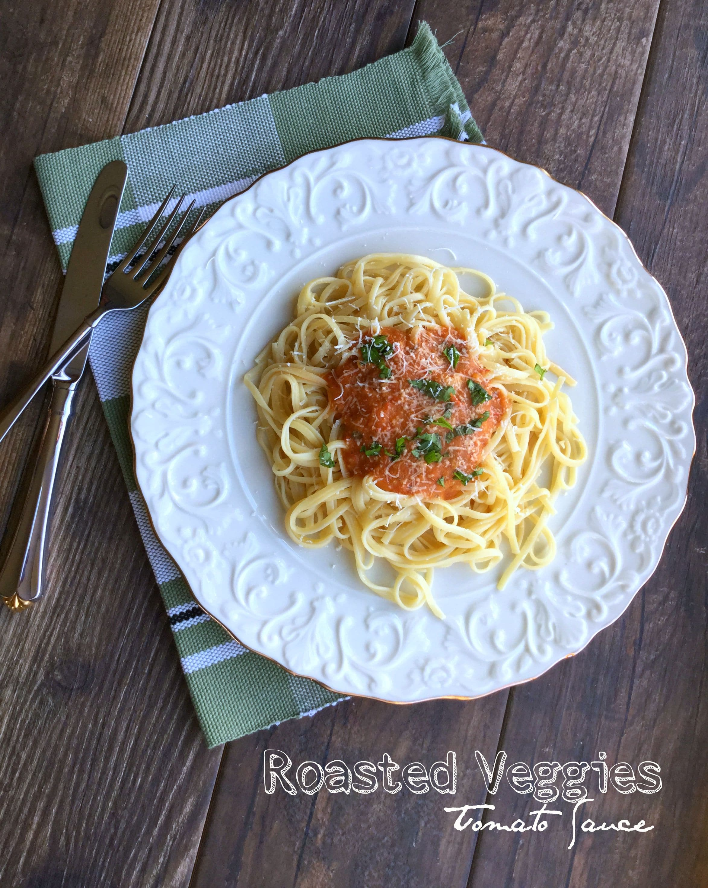 This recipe will show you how you can make the tastier sauce by combining with other deliciously fresh and roasted garden vegetables.  This tomato sauce is so flavorful, I bet you will want to eat it alone!