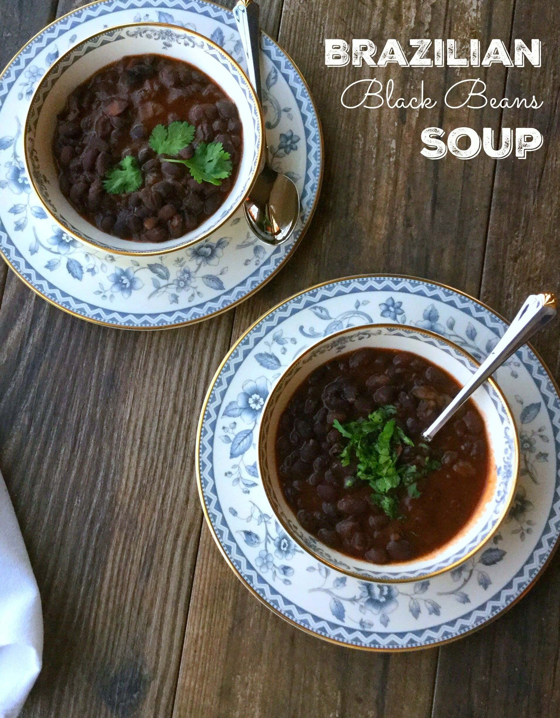 What a delicious way to pack in some nutrition while enjoying a tasty soup! This black beans soup is all about the flavors. So filling and satisfying, this soup is a one dish meal.