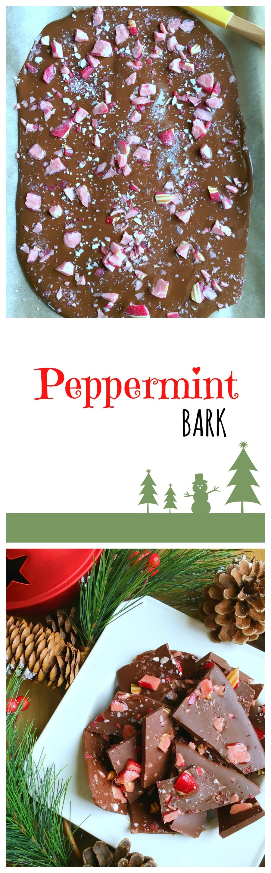 This peppermint bark is a sweet treat to enjoy this Holiday Season. Serve it in a platter and cheer up your holiday table or make a few batches to gift to the ones you love.