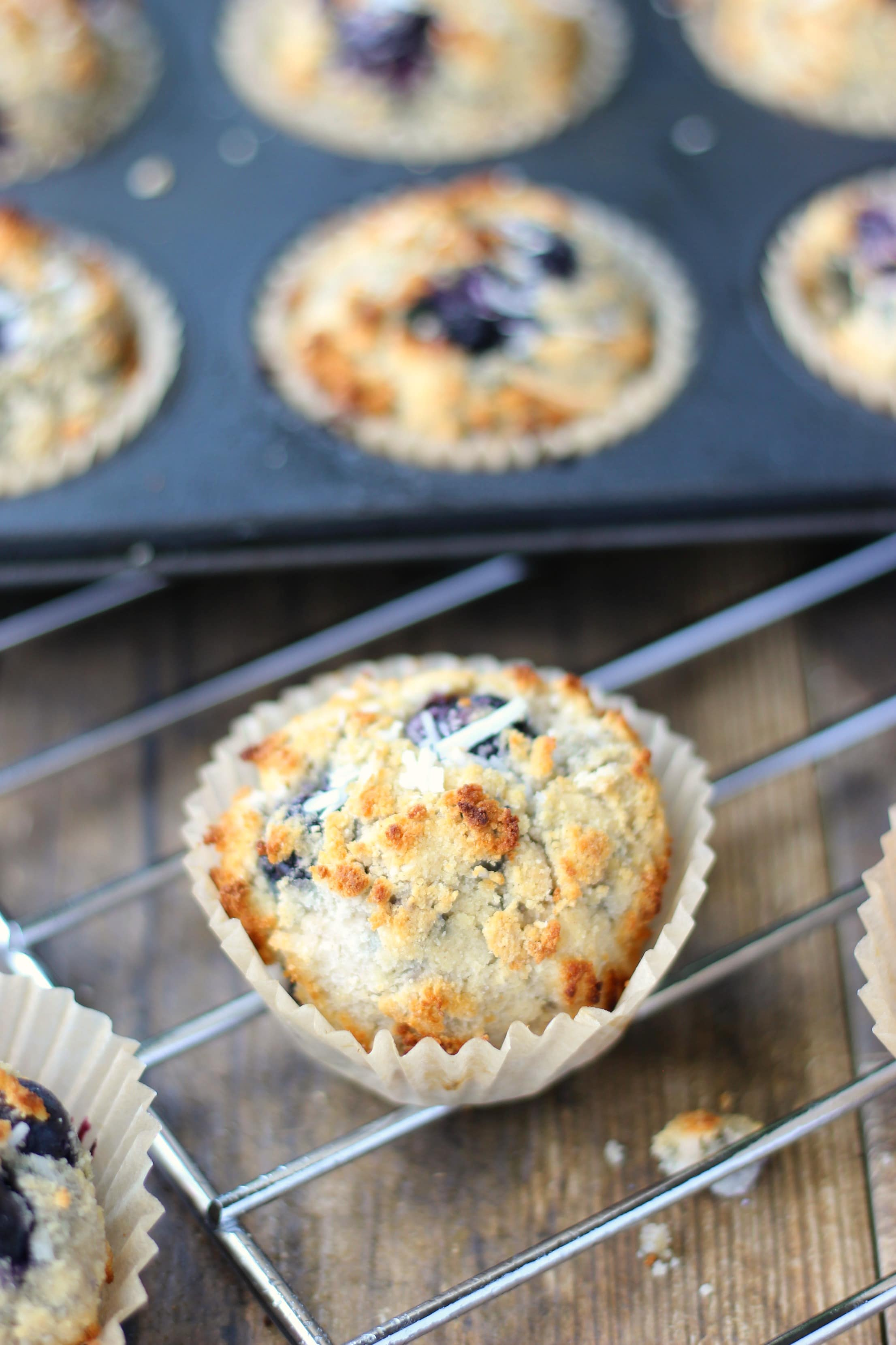 Now your morning experience just got a whole lot better with these delicious and quilt-free Coconut Blueberry Muffins. Enjoy!