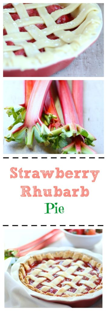 This Mom's favorite pie recipe is made 100% from scratch. This strawberry rhubarb pie is incredibly flavorful and easy to make! gardeninthekitchen.com